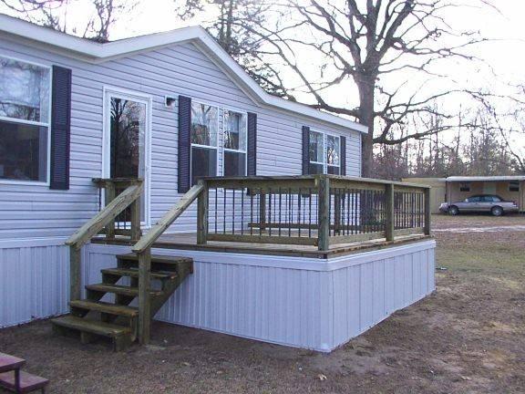 Superb Mobile Home Deck Plans Decks