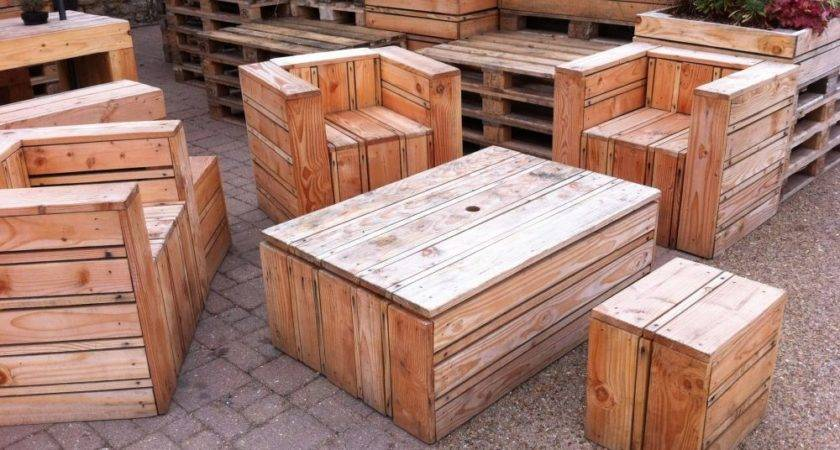 Tables Chairs Made Out Pallets Quay Side