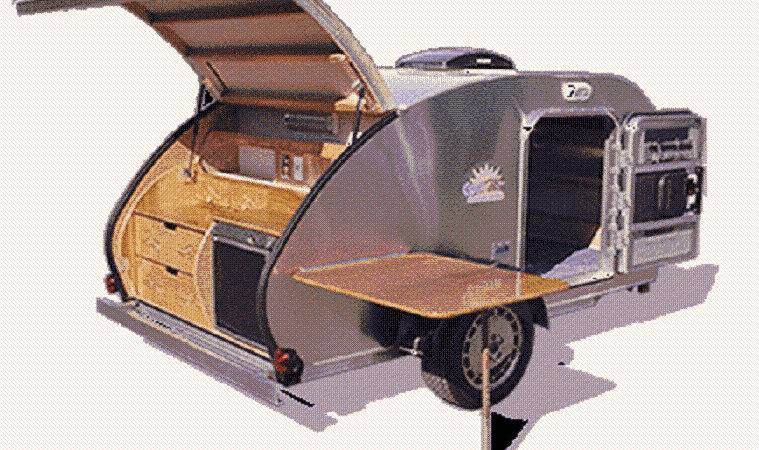 Teardrop Tear Drop Plans Camper Trailer Pop Caravan