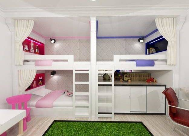 Three Children Bedroom Design Ideas