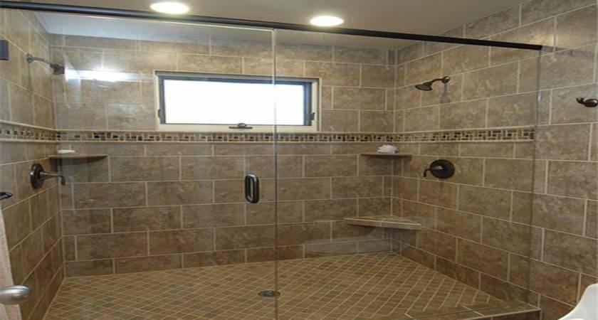 Tile Master Bathroom Dual Shower Heads Double