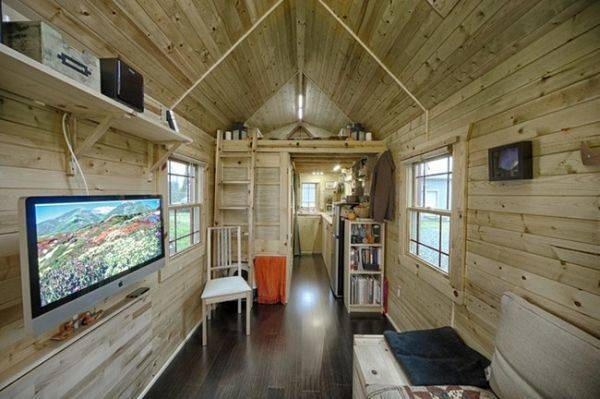 Tiny Tack House Wooden Mobile Home Built Trailer
