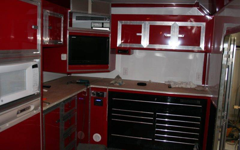 Touch Class Trailers Kitchen Area Cabinets