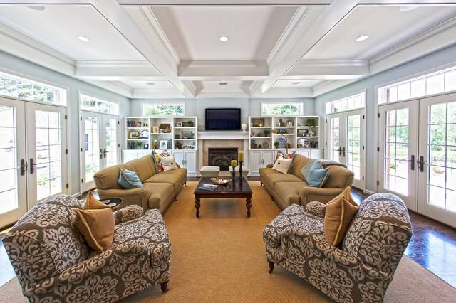 Town Country Home Addition Traditional Room