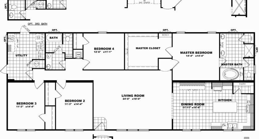 Triple Wide Manufactured Homes Floor Plans Review Home
