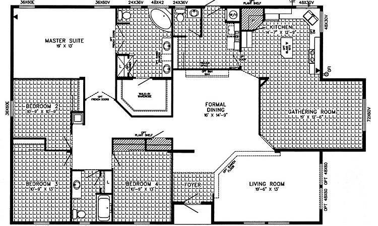 Triple Wide Mobile Home Floor Plans Bestofhouse