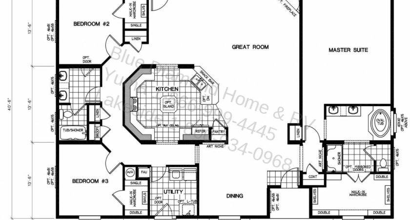 Triple Wide Mobile Home Floor Plans Candresses Interiors