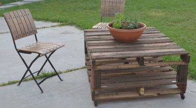 Tutorial Tried Outdoor Pallet Table Part One