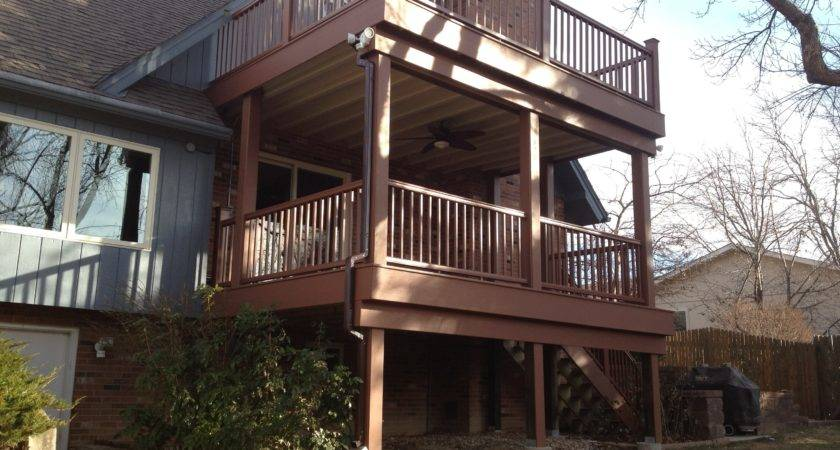 Two Story Deck Pic Fly Building Html Home Plans
