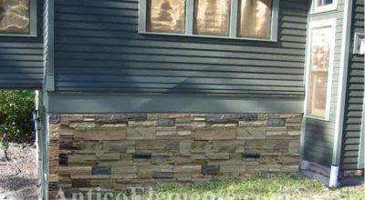 Underpinning Foundation Covers Faux Stone Siding