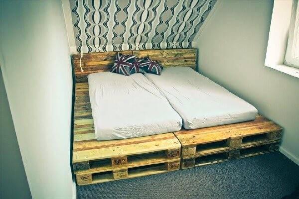 Unique Pallet Wooden Platform Beds Ideas Pallets