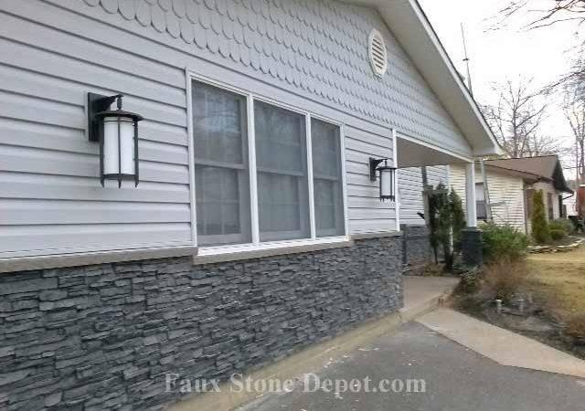 Using Fake Panels Stone Cover Skirting