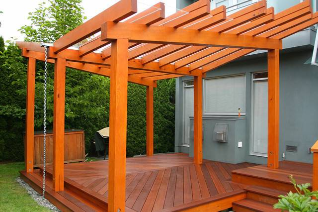 Vancouver Prefabricated Pergola Deck Modern