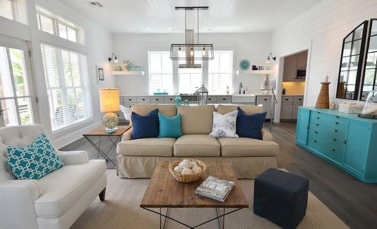 Vaulted Ceiling Living Room Cottage