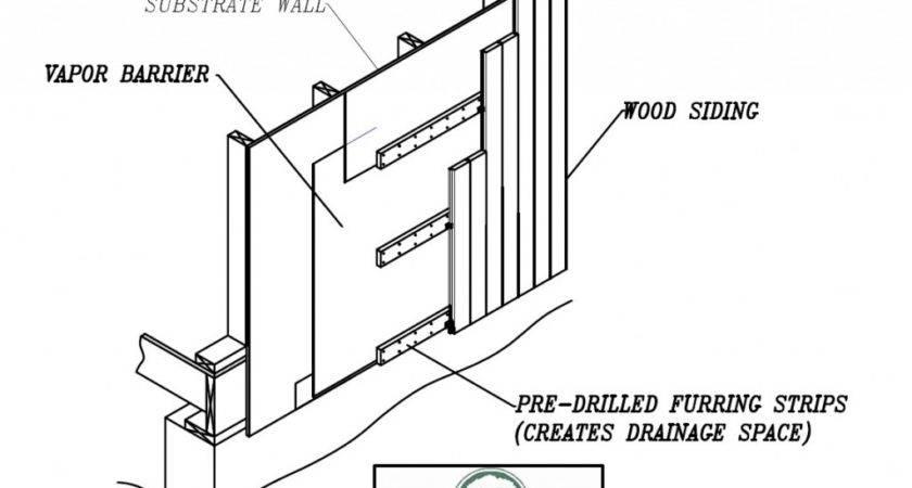 Vertical Rainscreen Clip Installation Wood Haven Inc