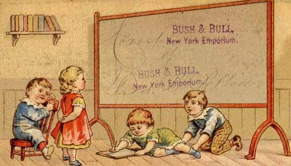Vintage Back School Victorian Trade Card