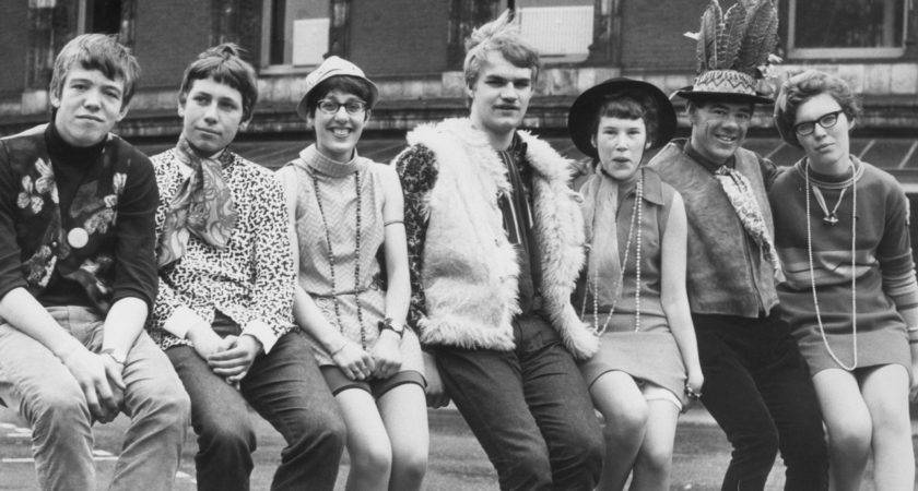 Vintage Photos Depict High School Fashion Decades
