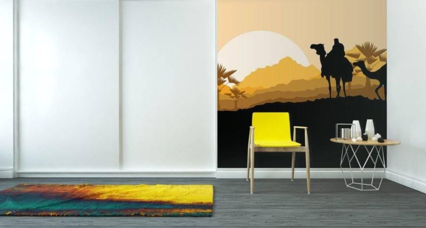 Vinyl Wall Mural Camel Caravan Wild Desert Mountain