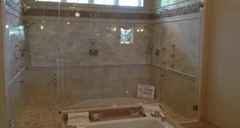 Walk Glass Clean Master Bathroom Double