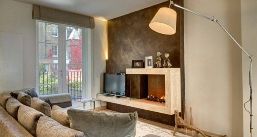 Wall Fireplace Living Room Interior Design