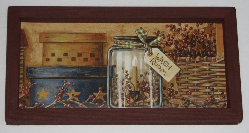 Wash Room Primitive Country Inch Wall Decor