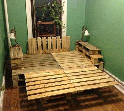 Ways Create Bed Frames Out Used Pallet Wood