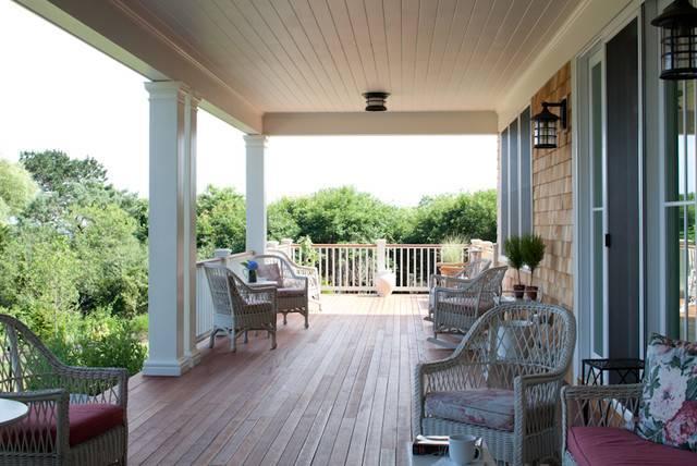 Welcoming Back Porch Coastal Views Traditional