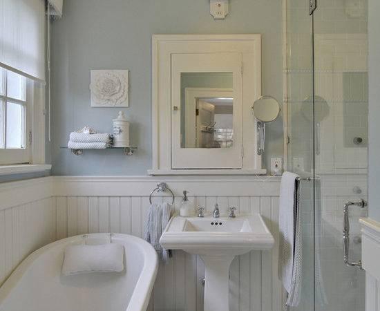 White Beadboard Bathroom Cottage Benjamin