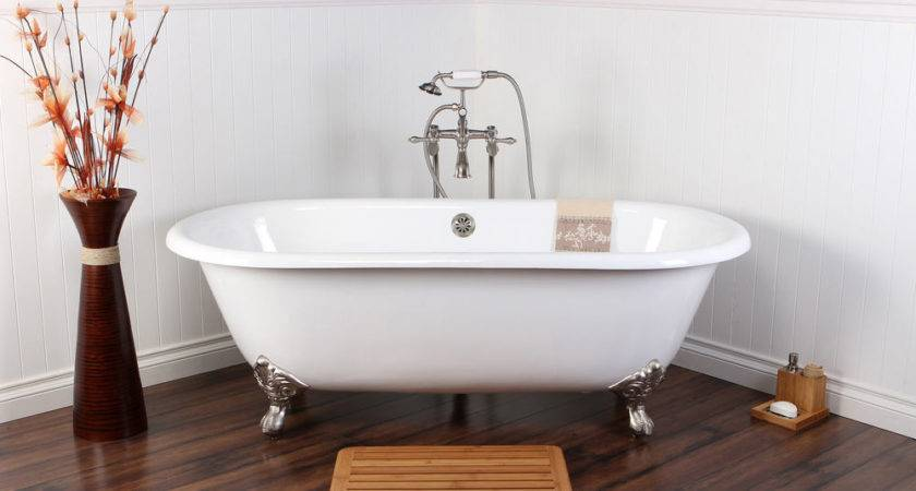 White Cast Iron Double Ended Inch Clawfoot Bathtub Ebay