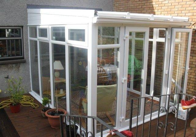 White Pvcu Diy Lean Conservatory Height Glass