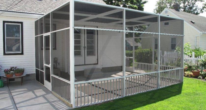 White Screen Porch Enclosure Ideas System Design