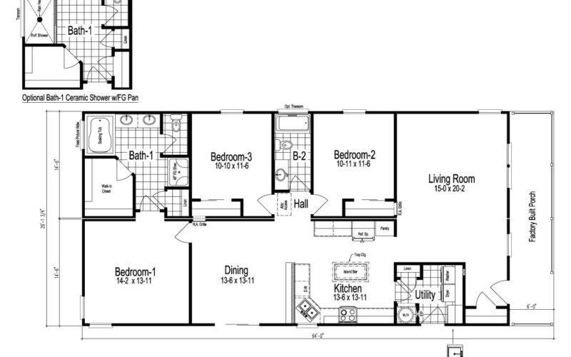 Wilmington Manufactured Home Floor Plan Modular Plans
