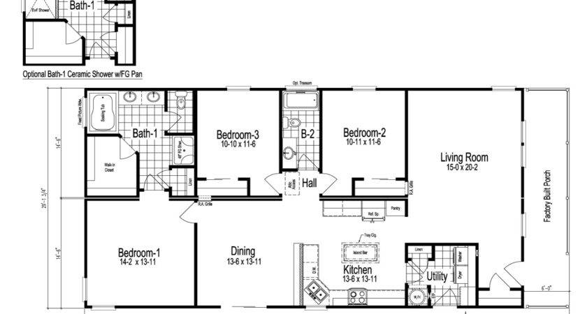 Wilmington Manufactured Home Floor Plan Modular Plans