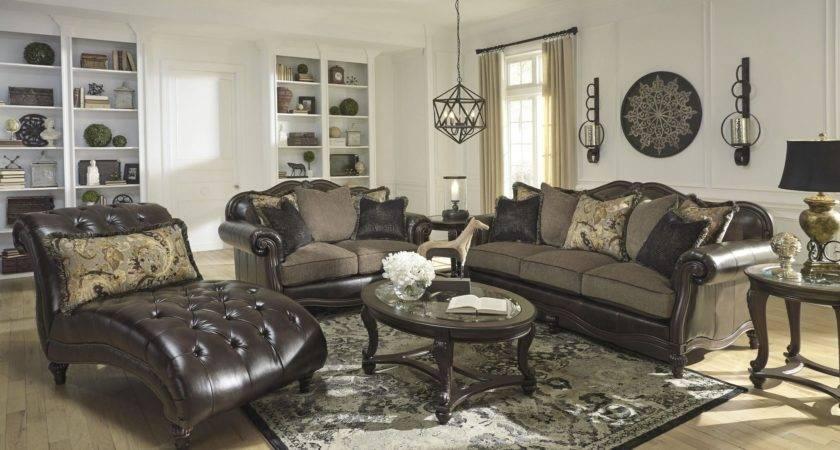 Winnsboro Durablend Vintage Living Room Set Ashley