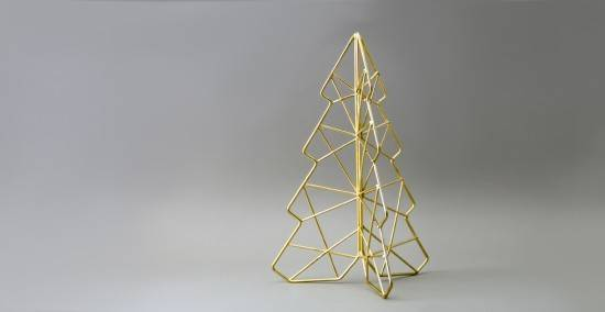 Wire Frame Christmas Tree Decore