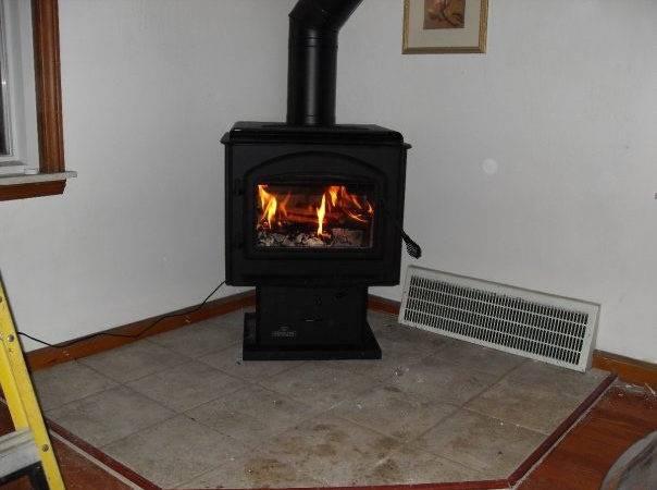 Wood Burning Stove Tile Hearth Pad Premier
