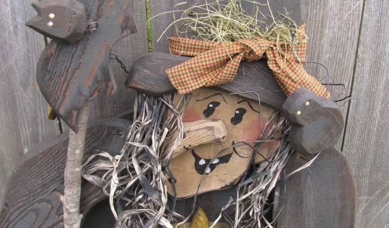 Wood Craft Primitive Halloween Witch Cat Pattern Ebay