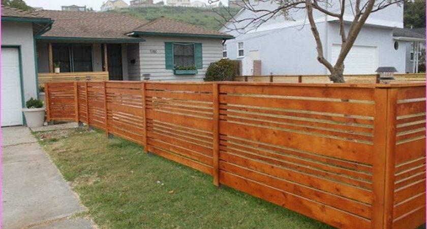 Wood Fence Designs Front Yards Crowdbuild