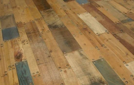 Wood Floor Made Old Shipping Pallets