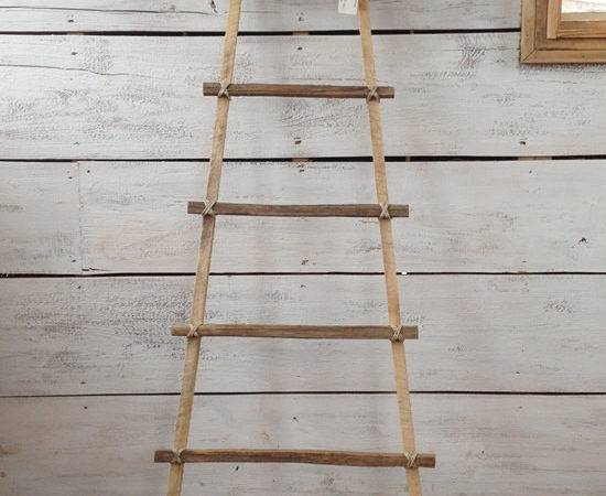 Wood Ladder Decorative Country Primitive
