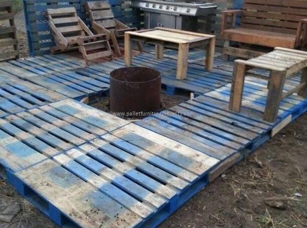 Wood Pallet Deck Plans Furniture Projects