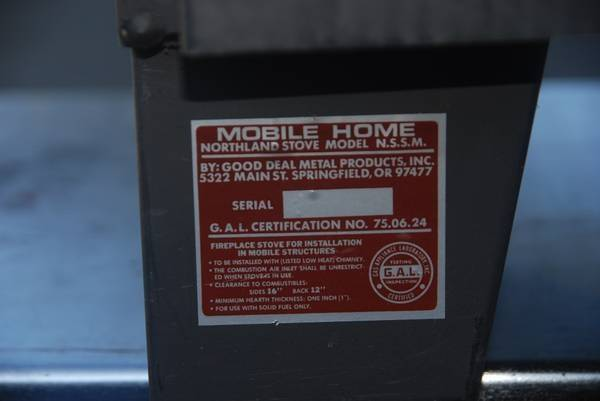 Wood Stove Mobile Home Approved Astoria Bestofhouse
