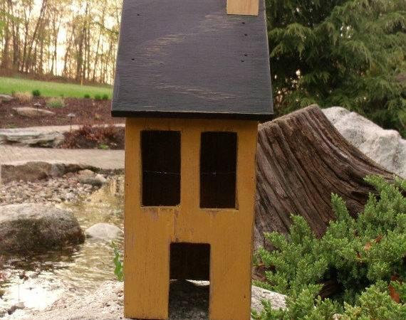 Wooden Primitive Saltbox House Foorswoodenstitches Etsy