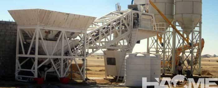 Yhzs Mobile Concrete Plant Mixing